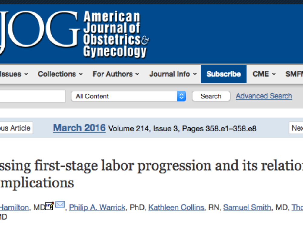 Assessing First-Stage Labor Progress