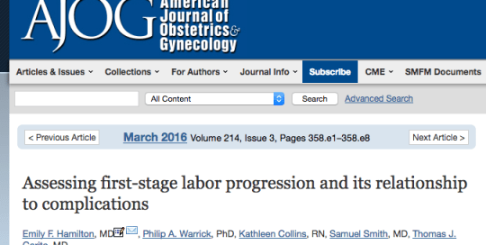 AJOG Highlights PeriGen Research on a New Labor Curve
