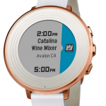 Pebble Time Round Smart Watch talks to any type of phone