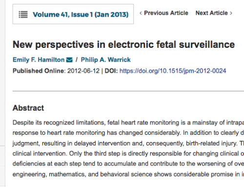 New perspectives on electronic fetal surveillance