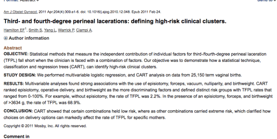 Third- and fourth-degree perineal lacerations: defining high-risk clinical clusters